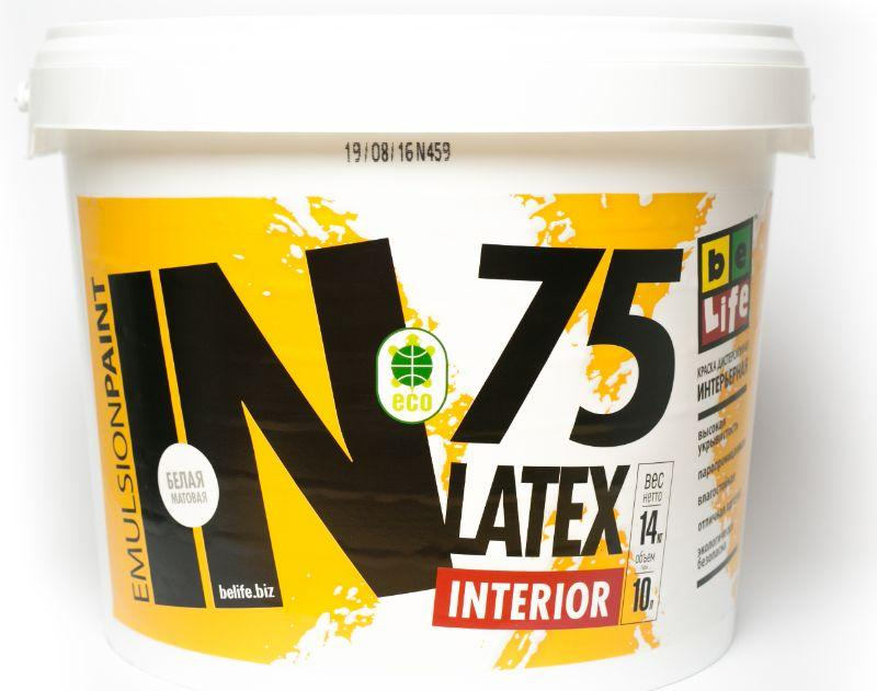 Интерьерная дисперсионная краска Latex Interior IN75, 2,5л