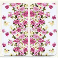 Виниловая наклейка для iPhone 4/4s Цветы + заставка