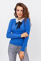 Женская кофта-блузка с воротником LUREX - синий цвет, L/XL (есть размеры), фото 1