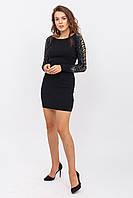 Приталенное платье с оригинальным рукавом LUREX - черный цвет, L/XL (есть размеры), фото 1
