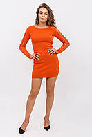 Приталенное платье с оригинальным рукавом LUREX - терракотовый цвет, L/XL (есть размеры)