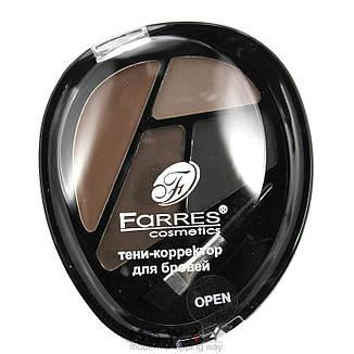 Farres - Набор тени-корректор для бровей 4-цв. Тон 04, фото 2