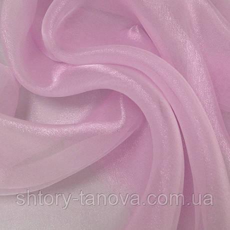 Органза снежок розовый