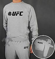 Зимний спортивный костюм , костюм на флисе UFC серый ,реплика