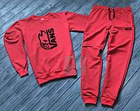 Зимний спортивный костюм, костюм на флисе Vans красного цвета ,