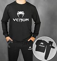 Зимний спортивный костюм, костюм на флисе Venum черный ,