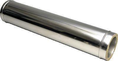 Труба термо ø 160/220 1м сталь 0.5 мм нержавійка/оцинковка