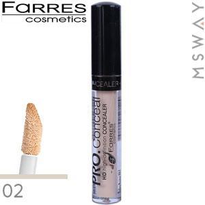 Farres - Консилер жидкий Pro Concealer 6ml с губкой Тон 02