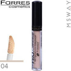 Farres - Консилер жидкий Pro Concealer 6ml с губкой Тон 04