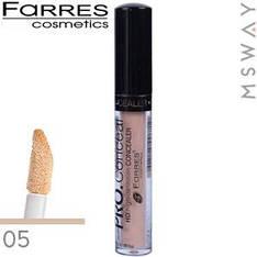 Farres - Консилер жидкий Pro Concealer 6ml с губкой Тон 05