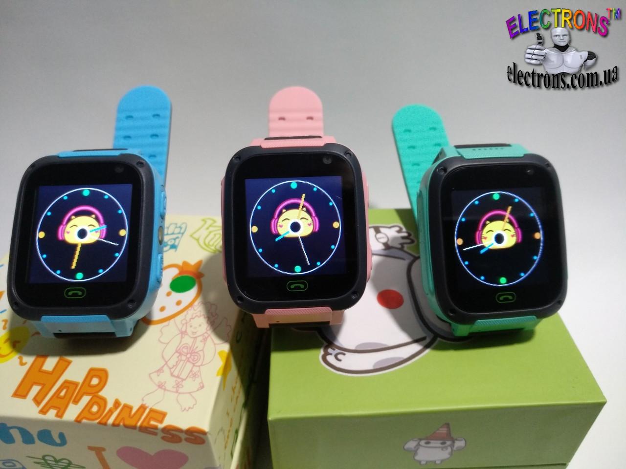 Смарт умные часы сенсорные детские наручные v6, телефон с прослушкой для детей, часофон на руку с камерой