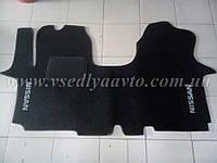 Ворсовые коврики NISSAN Primastar (Черные)