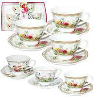 1752-08 Сервиз чайный 12пр. английский сад