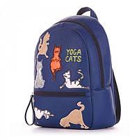 Рюкзак городской синего цвета с котами Alba Soboni арт. 130689