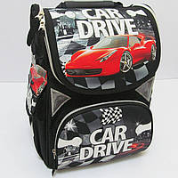 "Рюкзак коробка ""Car drive"" 13,5'' 3 отд., ортоп., светоотраж. //"