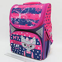 """Рюкзак коробка """"My little cat"""" 13,5'' 3 отд., ортоп., светоотраж. //"""