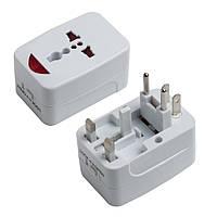 Сетевой адаптер тройник PWE Global adapter 3in1 Белый (hub_np2_1187)