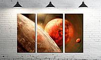 Модульная картина абстракция планета