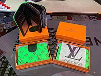 Кошелёк LV зеленый, фото 1