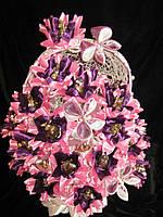 """Подарок  букет из конфет """"Розовый закат"""""""