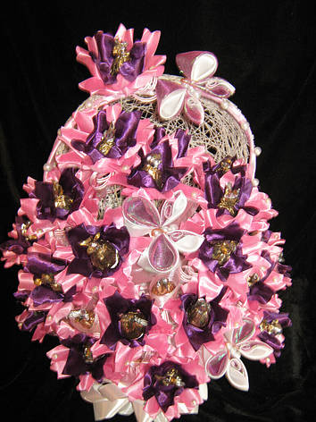 """Подарок  букет из конфет """"Розовый закат"""", фото 2"""