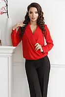 Блуза на запах, №132, красная