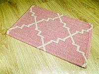 Хлопковые коврики для ванной и туалета. Размер: 40Х60. Розовый. Турция., фото 1