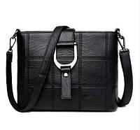 Женская сумка Saiten D1002 с ремнем на плечо Черный (hub_np2_1418)