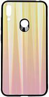 Чехол-накладка TOTO Aurora Print Glass Case Huawei Y7 2019 Pink #I/S