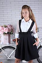 Сарафан для девочки  в школу р.134-164 опт черный