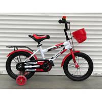 """Велосипед TopRider 804 20"""" красный детский двухколесный с багажником"""