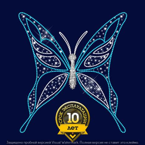 3D светодиодная конструкция Бабочка (синий,белый)