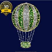 """3D светодиодная конструкция воздушный шар """"Зелёный"""""""
