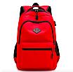 Рюкзак городской Aspen Sport с выходом для гаджетов Красный, фото 2