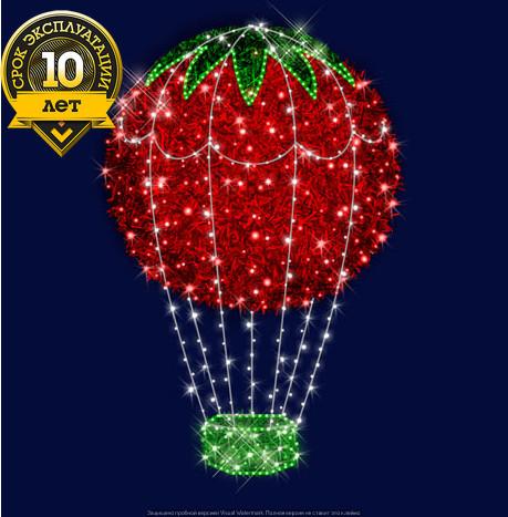 """3D светодиодный воздушный шар """"Красный"""""""