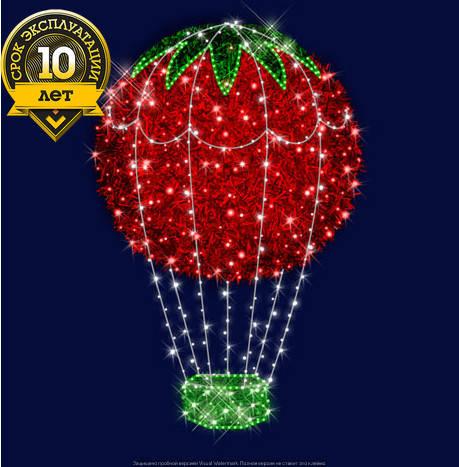 """3D светодиодный воздушный шар """"Красный"""", фото 2"""