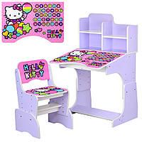 Детская парта-трансформер со стульчиком Hello Kitty, W 2071-64-3 сиреневый