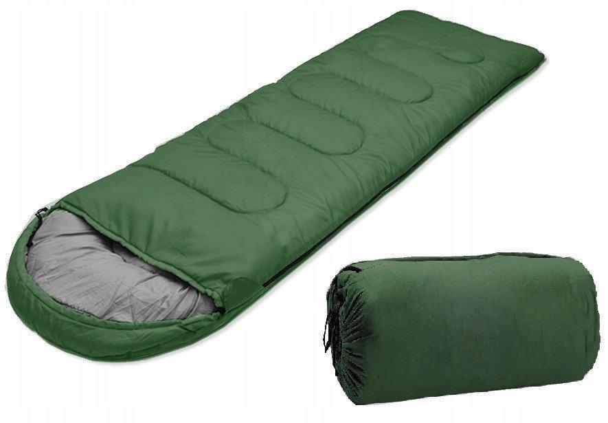 Спальный мешок с капюшоном до - 9  в чехле + каремат с фольгой