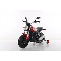 Детский электромобиль мотоцикл на надувных колесах T-7226 AIR WHEEL RED