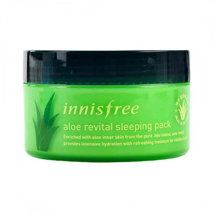 Увлажняющая ночная маска с алое Innisfree Aloe Revital Sleeping Pack (100ml), фото 2