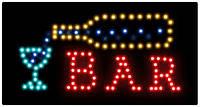 """Светодиодная LED вывеска """"BAR"""" 48-15 см 3202"""