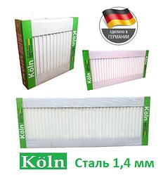 Стальной радиатор отопления 500 на 500 Köln 22 тип боковое подключение