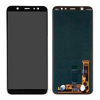 Дисплей (экран) для телефона Samsung A605/A6 Plus-2018 + touch Black (100% Service OR)