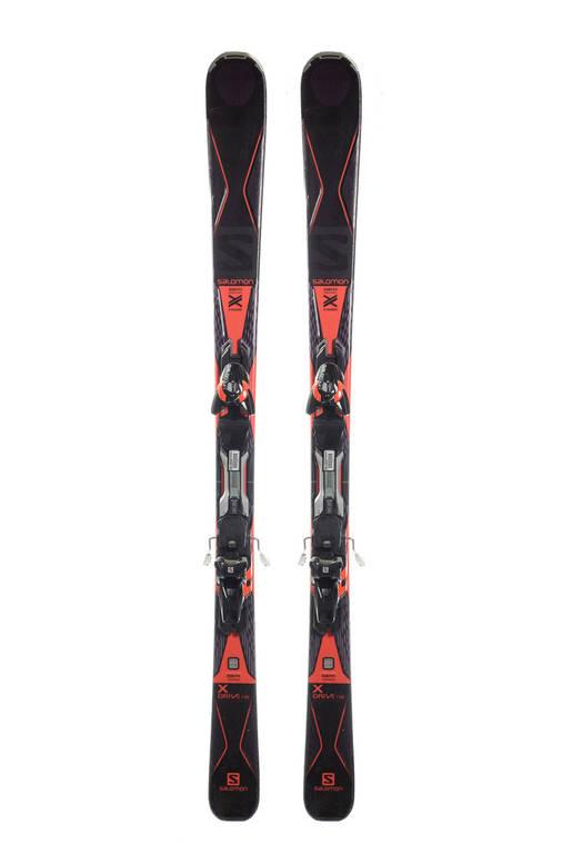 Гірські лижі Salomon X Drive 156 Black-Red Б/У, фото 2