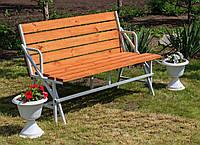 Садовая Скамейка-Лавочка Трансформер Гармония 3 в 1 Nk Plast Серый-Тик, фото 1