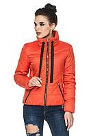 Демисезонная короткая женская куртка с воротником стойкой. Размеры с 44 по 52. Пять цветов. Код Анфиса