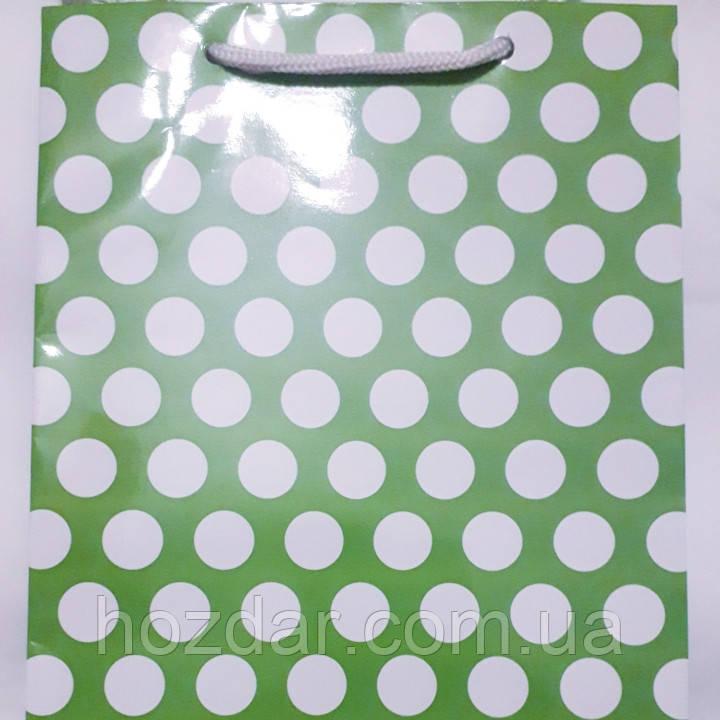 Пакет подарочный бумажный средний 16х25х7 (23-104)