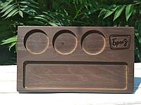 Деревянная доска для сервировки, подачи блюд с Вашей персональной гравировкой, 19*35 см