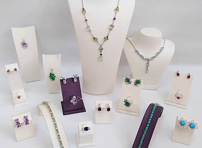 Изделия из серебра с натуральными камнями/ Вироби з срібла з натуральними каменями