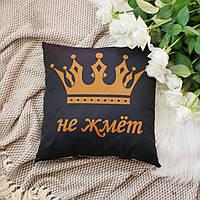 Подушка Корона, черный 40х40см